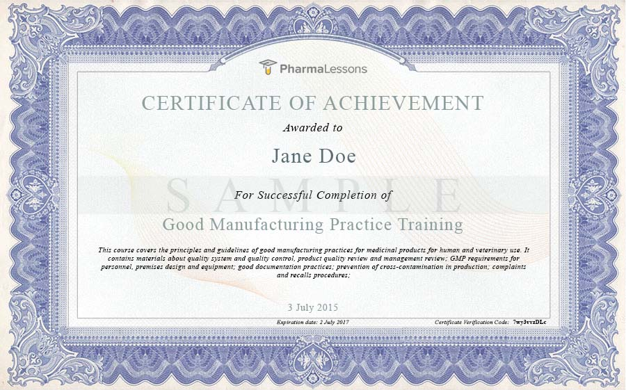 GMP Training - Online Course